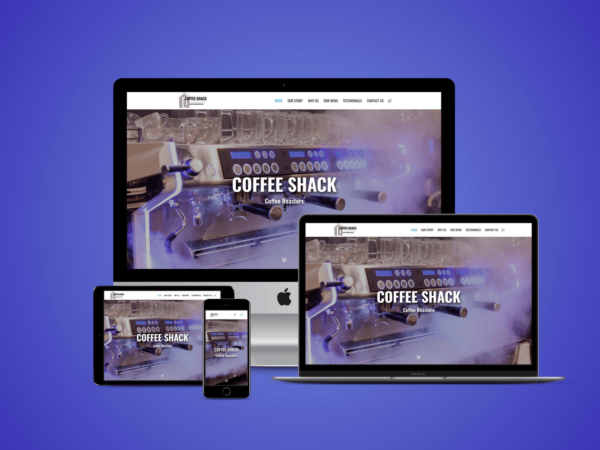 Coffee Shack Coffee Roasters New Website Design